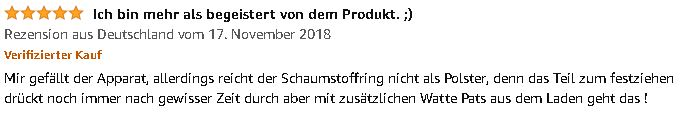 5 Sterne Bewertung Penis-Expander Pro Male Edge 2